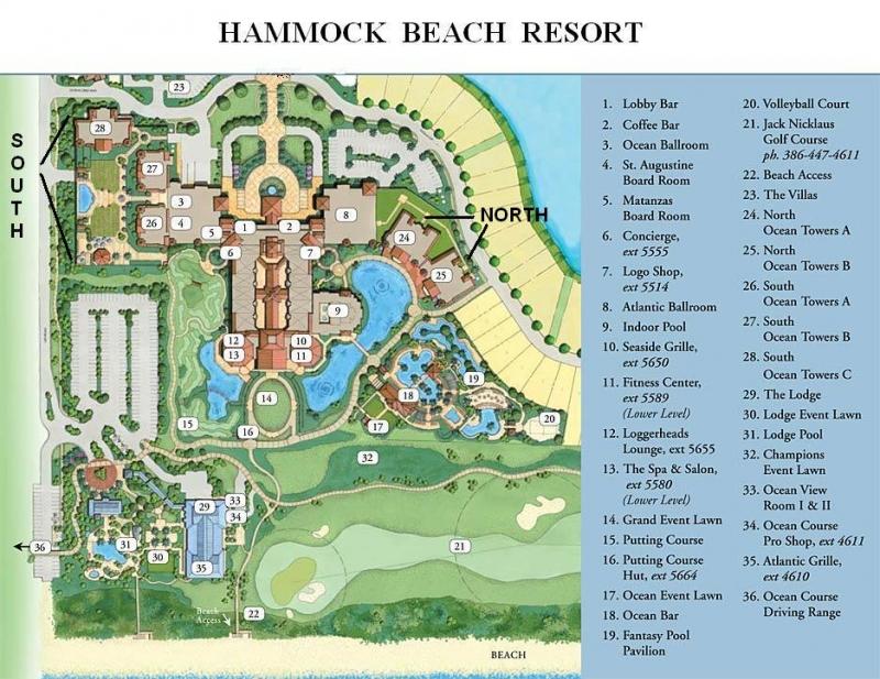 Hammock Beach Resort Map Hammock Beach Club Condos & Ocean Towers   Cinnamon Beach Realty Hammock Beach Resort Map