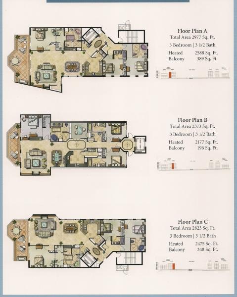 Community Site Map Floor Plans Hammock Beach Plan Ocean Tower 1 Floorplan