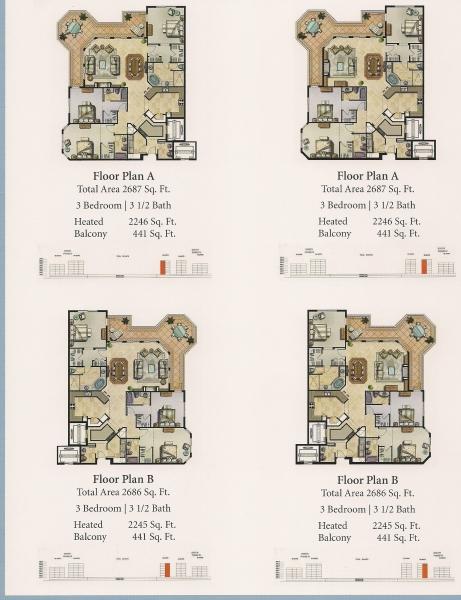 Community Site Map Floor Plans Hammock Beach Plan Ocean Tower 1 Floorplan 2